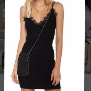 NWT Black mini dress with lace